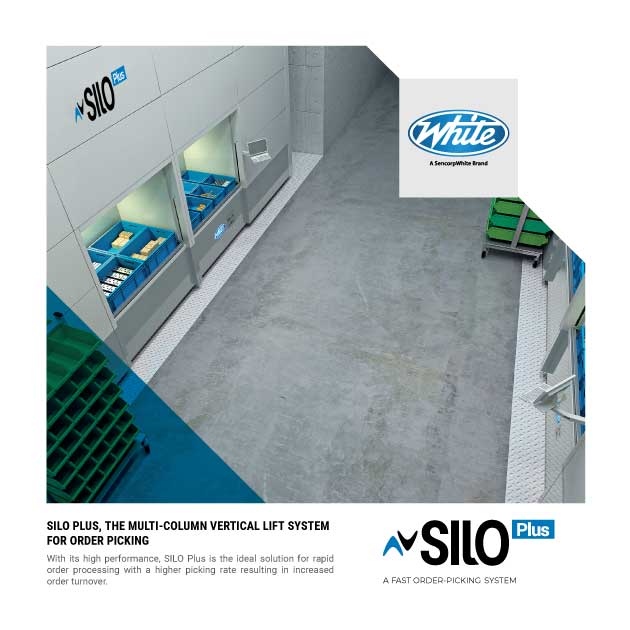 Vertical Lift Module, Silo Plus, White Systems