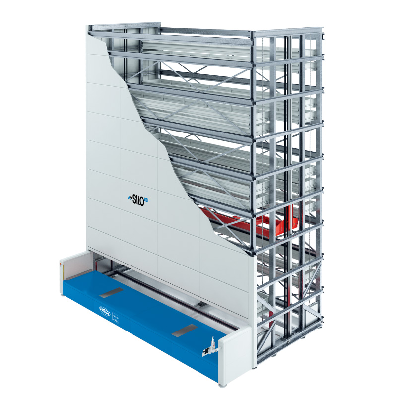 vertical lift module for long and heavy items, Silo XL, White Systems