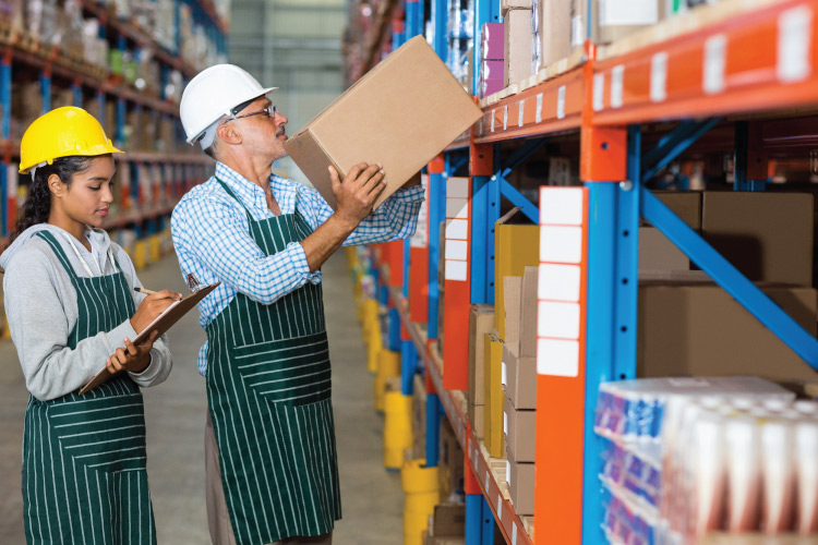Warehouse-Workers-Restocking-Shelves